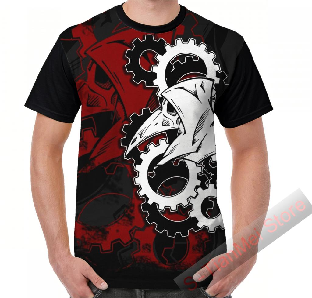 Camiseta gráfica de verano, camisetas para hombres, camisetas de médico de la peste, camisetas divertidas estampadas Remix para mujeres, camisetas casuales de manga corta