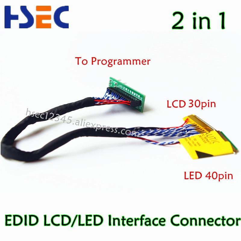 EDID ноутбук ЖК-экран чип считывания данных Светодиодный ЖК 2 в 1 для RT809F RT809H CH341A TL866CS и TL866A TL866II программист