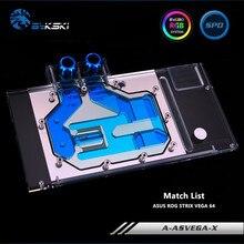 Bykski cubierta completa GPU AURA SYNC bloque de agua para VGA Asus ROG STRIX VEGA 64 tarjeta gráfica A-ASVEGA-X
