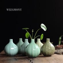 Vase de table en porcelaine de céladon   6 Types, offre spéciale traditionnelle chinoise pour décoration, Design Unique, Type spécial à bas prix