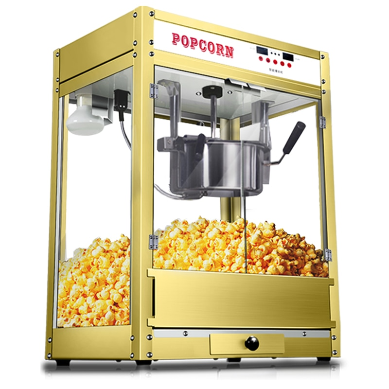 Commercial Popcorn Machine Maker Automatic Spherical & Butterfly Popcorn Maker Luxury Electric Popcorn Making Machine hot sale popular 5l commercial spanish churro maker machine with 6l fryer maker churros making machine with ce in high quqlity