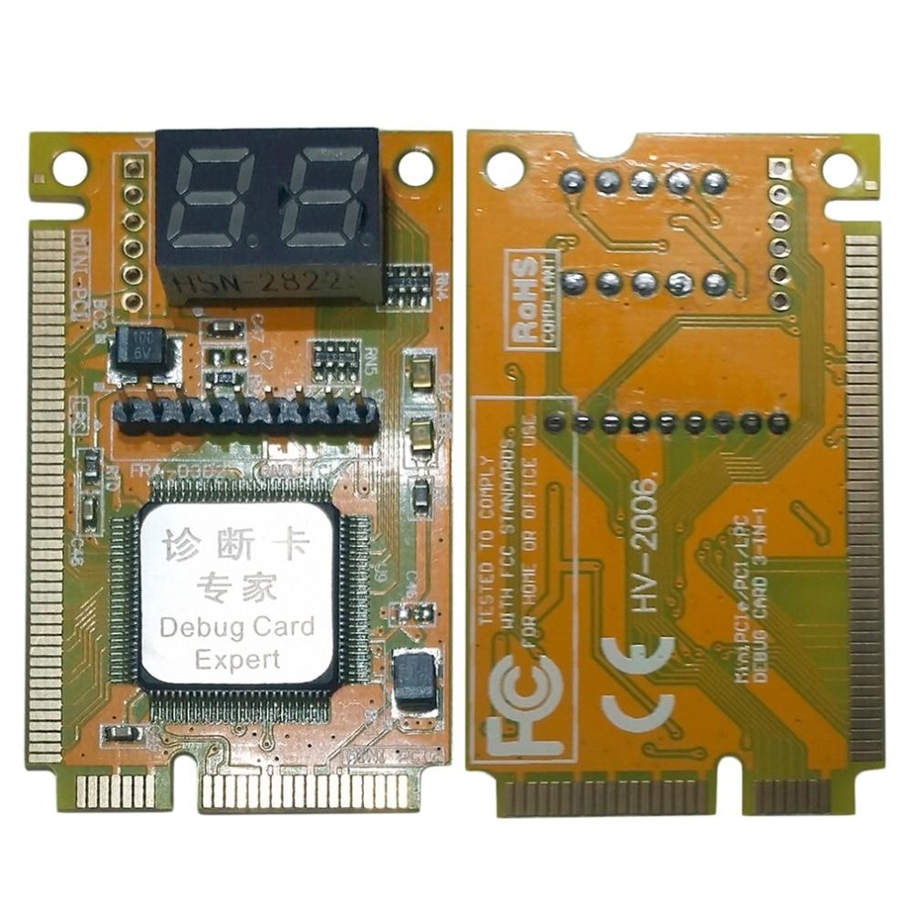 kqcpet6 h v6 type b 3 in 1 phone laptop desktop pc universal diagnostic test debug king post card for pci pci e lpc minipci e ec 3 in 1 Mini PCI-E LPC PC Analyzer Tester POST Card Test For Notebook Laptop Hexadecimal Character Display