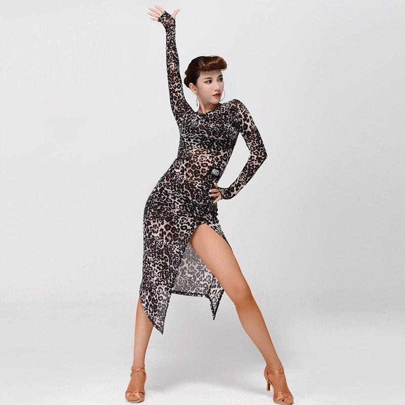 latin dance dress women latina salsa dress rumba modern dance costumes for women latin dress dancewear tango dress leopard