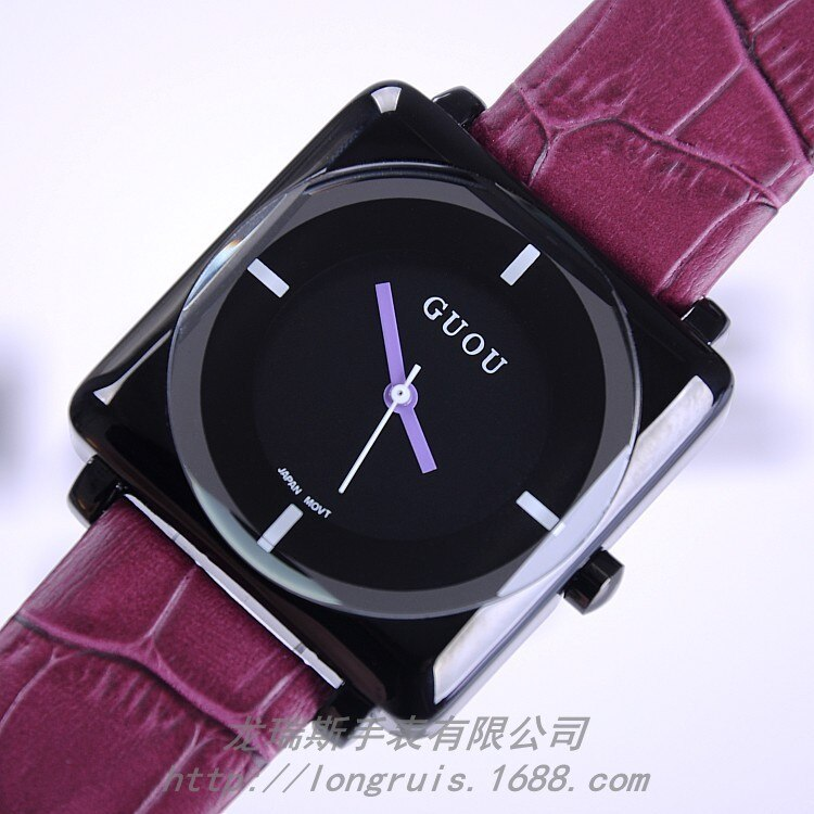 2016 Famous Brand Clock Ladies Rhinestone Watches Woman Wristwatches Genuine Leather Quartz Watch Famale Dress Bracelet Watches enlarge