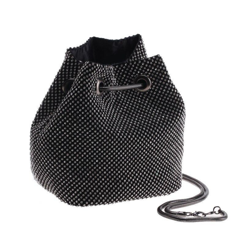 Sac seau strass brillant femme Mini croix corps chaîne sacs à bandoulière mode Banquet sac de soirée ins sacs fourre-tout chauds
