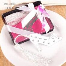 Zapatos de tacón alto de marcalibros con borla recuerdo de la boda obsequios para los invitados favores de la boda y regalos 50 Uds
