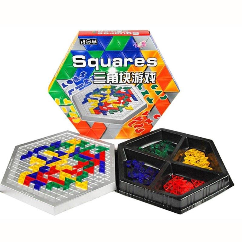 Juegos de mesa educativos cuadrados bloques hexagonales familia/fiesta padres con caja para niños Juego de entretenimiento