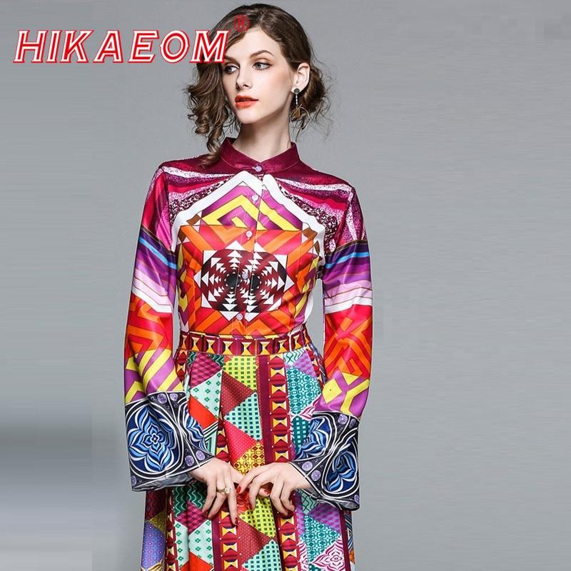 2018 Vestido Long Flower Dress Retro Bohemian Maxi Dress Sexy Ethnic Vintage Floral Print Beach Dresses Rushed Boho Hippie Robe