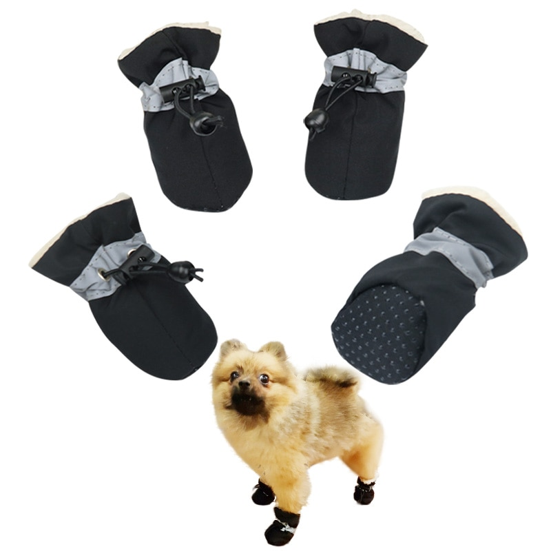 Обувь для собак, Нескользящие непромокаемые сапоги для домашних животных, кошек, щенков, теплая обувь для маленьких больших собачьих ботинок для уличных собак Supply3
