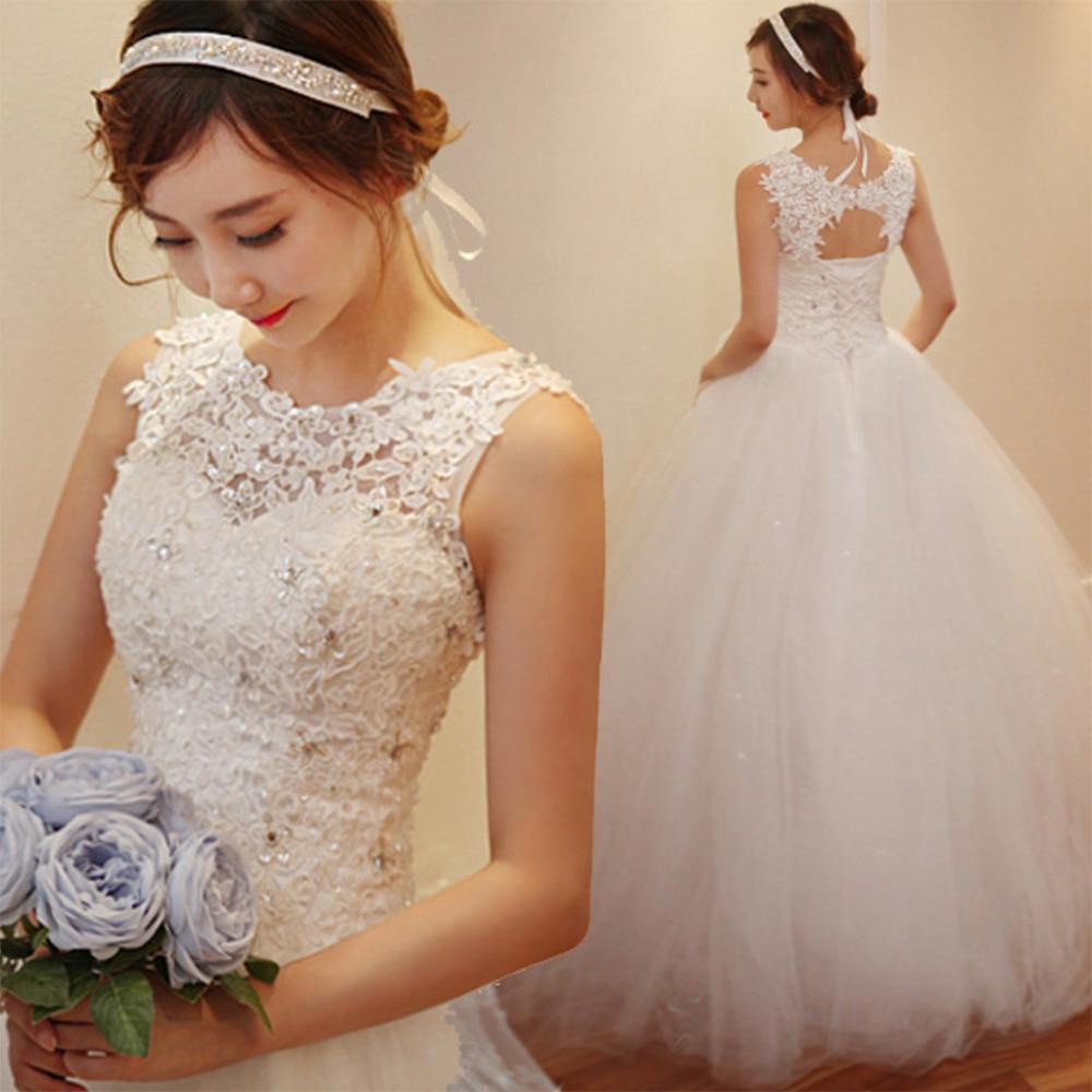 Fansmile 2020 رداء دي خطاباتخطابهزوجات الأميرة الأبيض الكرة ثوب الزفاف فساتين Vestido دي Noiva زائد حجم مخصص الزفاف أثواب FSM-023F