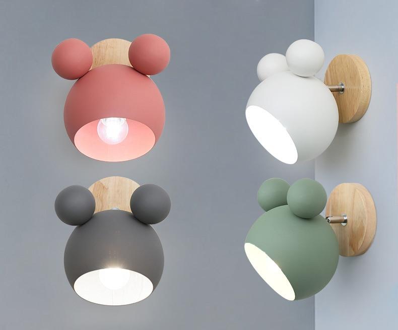 Lovely Creative Fashion Wall Lamps Modern iron Lights LED Bulb Modern Chidren Room Balcony Bedroom Home Lighting Dhl Free