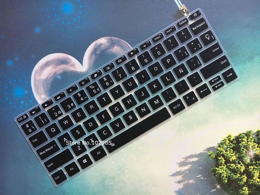 Capa protetora de silicone para laptop, capa de silicone para teclado de xiaomi mi 13 polegadas, computador portátil, air, 13.3, idioma espanhol