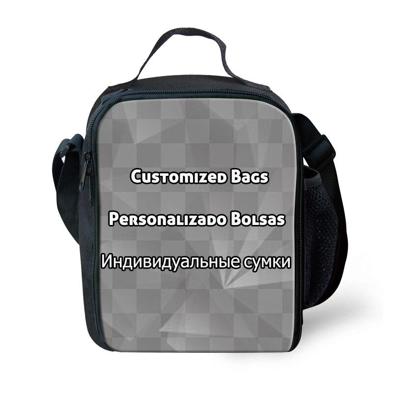 FORUDESIGNS, bolsas de almuerzo con aislamiento portátil personalizadas para niñas, niños, bolsas de comida para Picnic, bolsas de hombro para niños Stylis, bolsa de almuerzo escolar