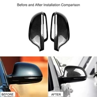 kkmoon side wing mirror covers caps replacement decoration fit for audi a4 b8 2008 2011 a5 b8 2009 2012 car styling