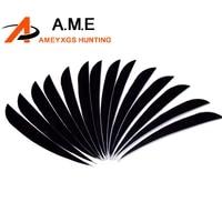 200pcs archery arrow fletching 5 black archery arrow turkey feather for arrows camping shooting hunting wood bamboo arrows