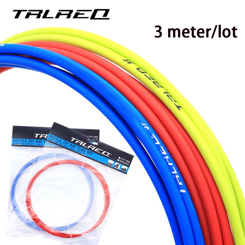 Cable de freno de bicicleta Universal 3M Cable de cambio de carcasa para bicicleta de carretera MTB de 4mm/5mm tubo trasero delantero de línea de freno