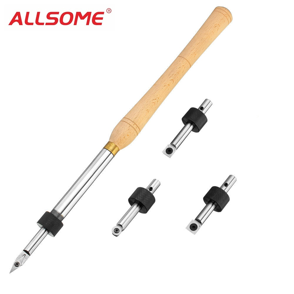 ALLSOME herramienta de torneado de madera extraíble con cortador de inserción de carburo de madera herramienta de carpintería HT2343-2348