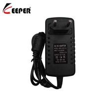 Keeper 12V2A-adaptateur convertisseur 100V-240V cc   12V 2A 2000mA, alimentation CCTV, prise ue 5.5mm x 2.1-2.5mm, pour caméra de vidéosurveillance