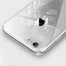 Cubierta de teléfono de TPU suave transparente ultradelgada para iPhone 7 8 Plus Capa fundas transparentes para iPhone Xs 11 Pro Max X XR 6s 6 5S