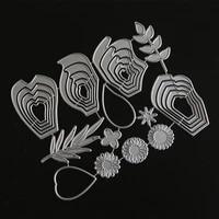 scd1128 flower metal cutting dies for scrapbooking stencils diy album cards decoration embossing folder craft die cuts tools new