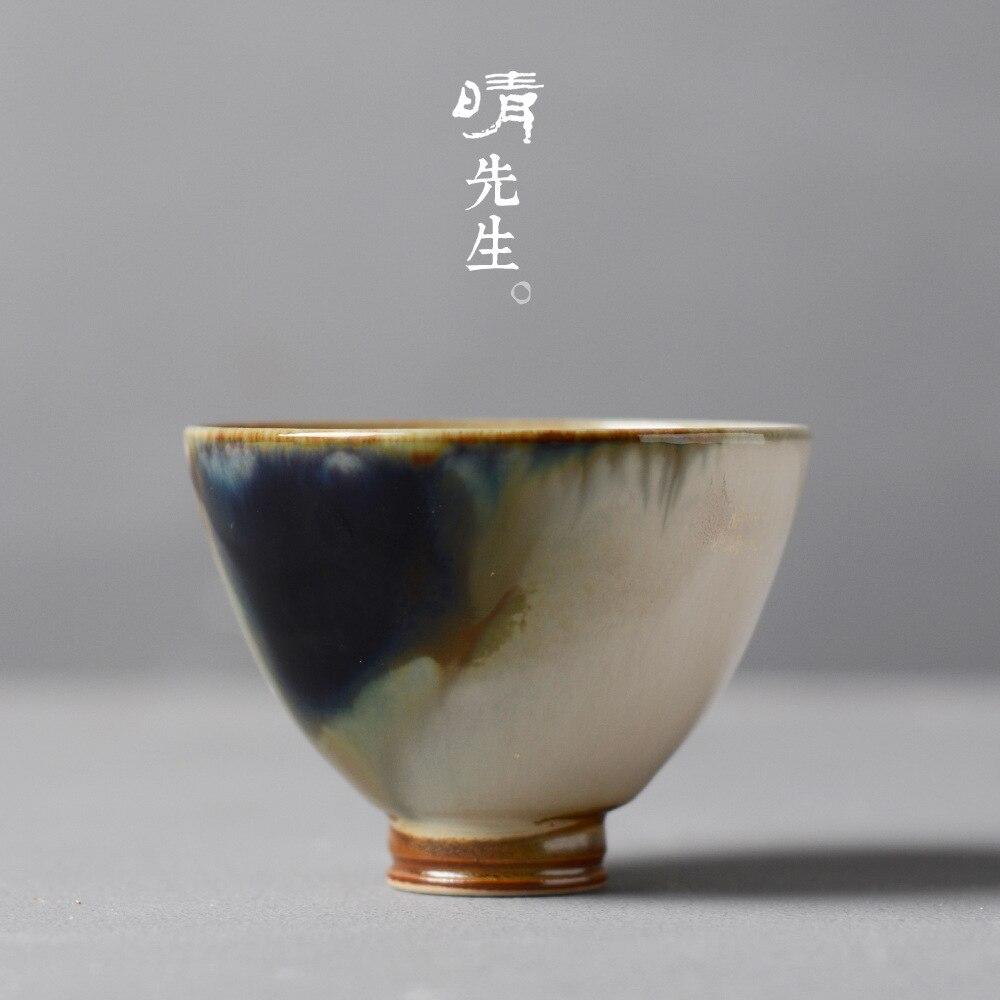 Sr. Wu Ying taza Jingdezhen cerámica de alta temperatura Kungfu pequeña taza de té tinta paisaje té humanista