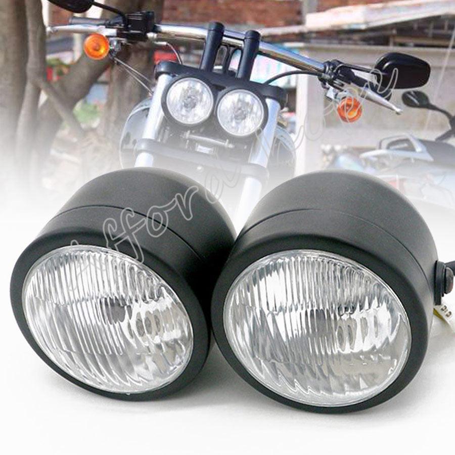 4 polegada da motocicleta gêmeo oi/baixo feixe h4 12 v 35 w farol duplo frente dupla lâmpada clara lente para suzuki harley yamaha kawasaki