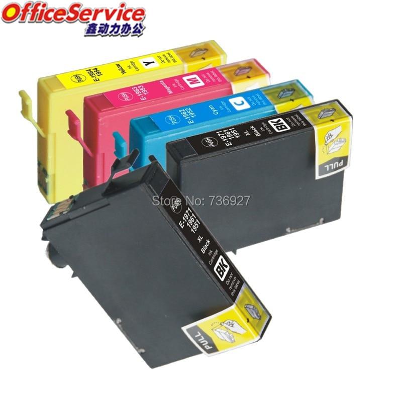 5X T1971 T1961 T1951 Cartouche dencre Compatible Pour Epson XP-101 XP-201 XP-204 XP-401 XP-211 XP-104 XP-214 WF-2532 imprimante à jet dencre