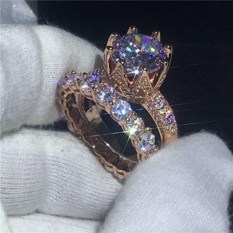 Любителей Корона кольцо набор обещание Enagement обручальное кольца для мужчин и