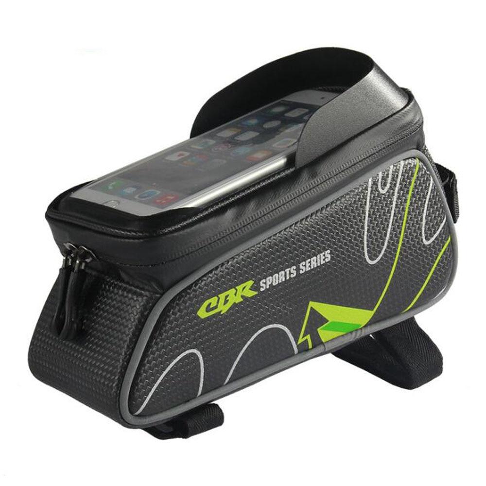 Водонепроницаемая передняя сумка для велосипеда, 6-дюймовая сумка с сенсорным экраном для телефона, сумка для горного велосипеда, велосипедная передняя рама, велосипедная сумка-Седло
