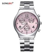 Mode LONGBO marque luxe étanche Montre à quartz décontractée femmes dame cadeau montres étanche en acier inoxydable Montre Montre Femme