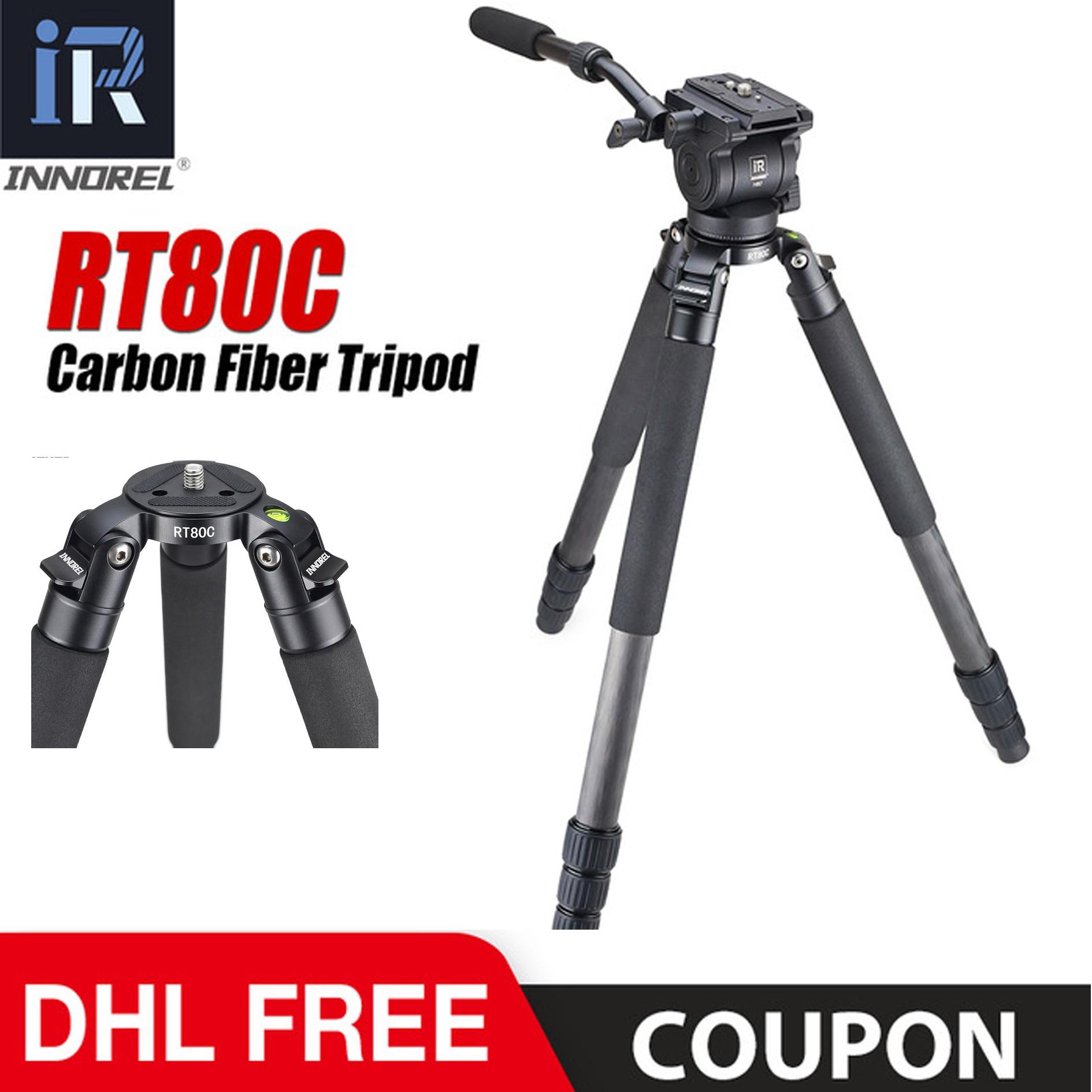 RT80C Профессиональный штатив из углеродного волокна для видеокамеры ARRI RED BMCC DSLR camera camcorder 20 кг