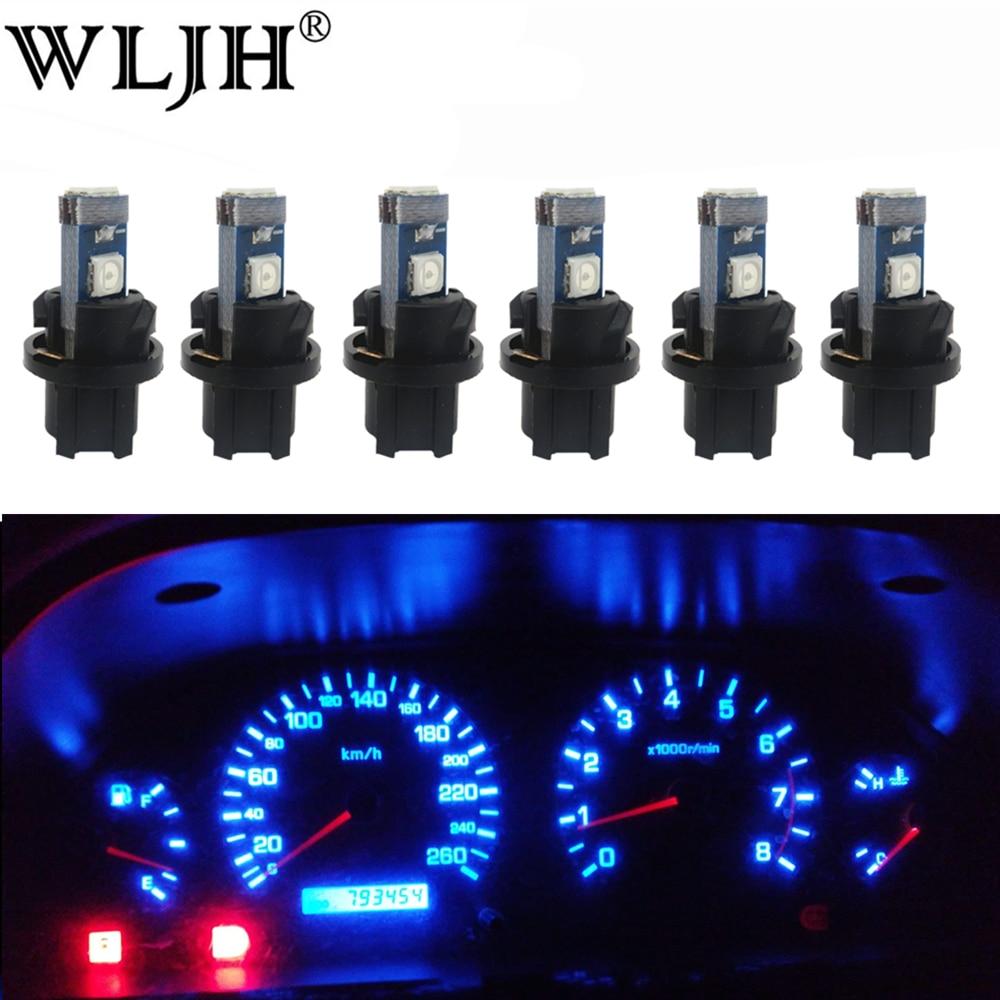 WLJH 6x LED T5 PC74 Buchse Lampe Auto Dashboard Instrument Panel Licht Lampe für HONDA ACCORD CIVIC CR-V CRX ODYSSEY PRELUDE S2000