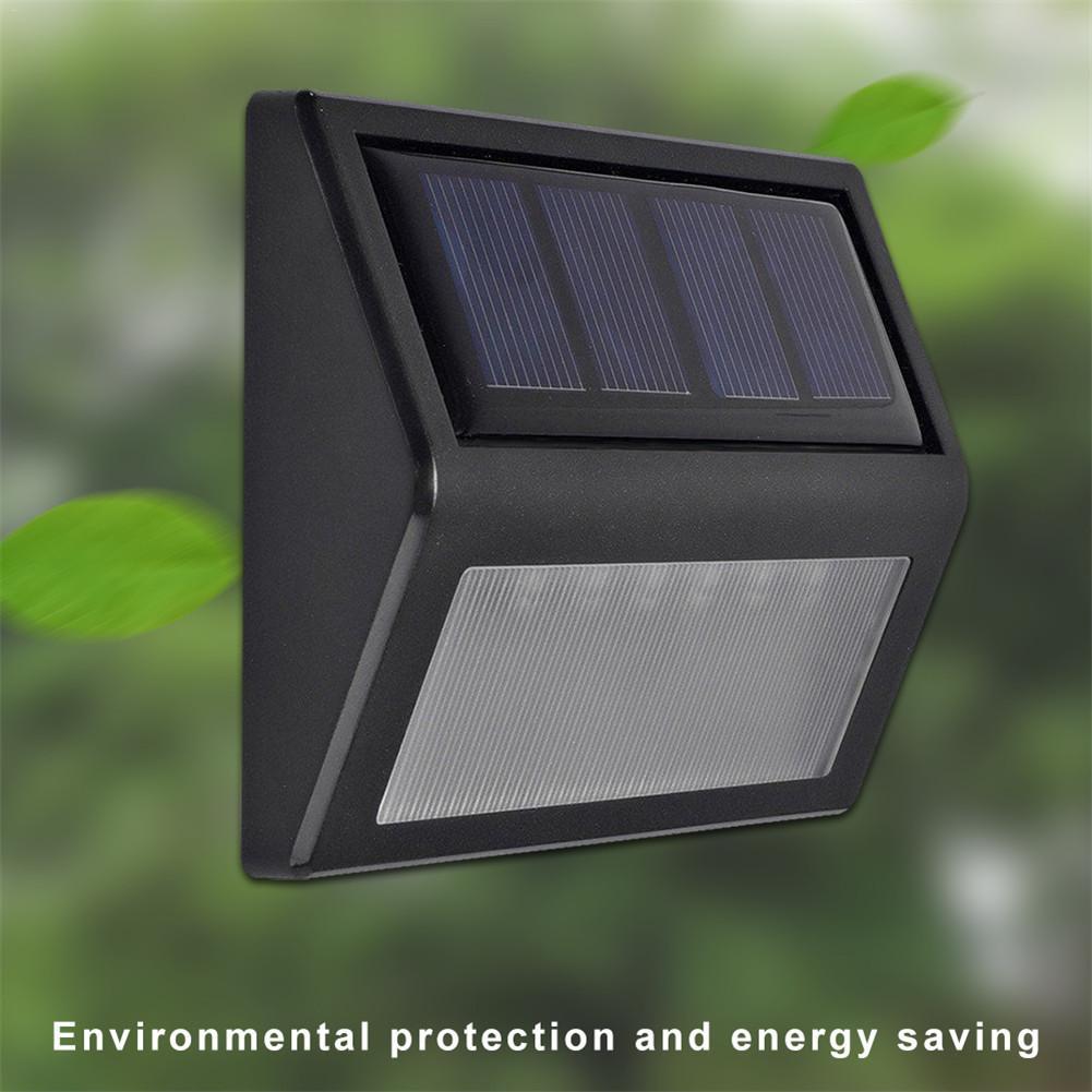 1Pc 6 LED Solar Panel Senser Light Wall Path Landscape Fence Outdoor Garden Lamp Warm Pure White Waterproof IP65
