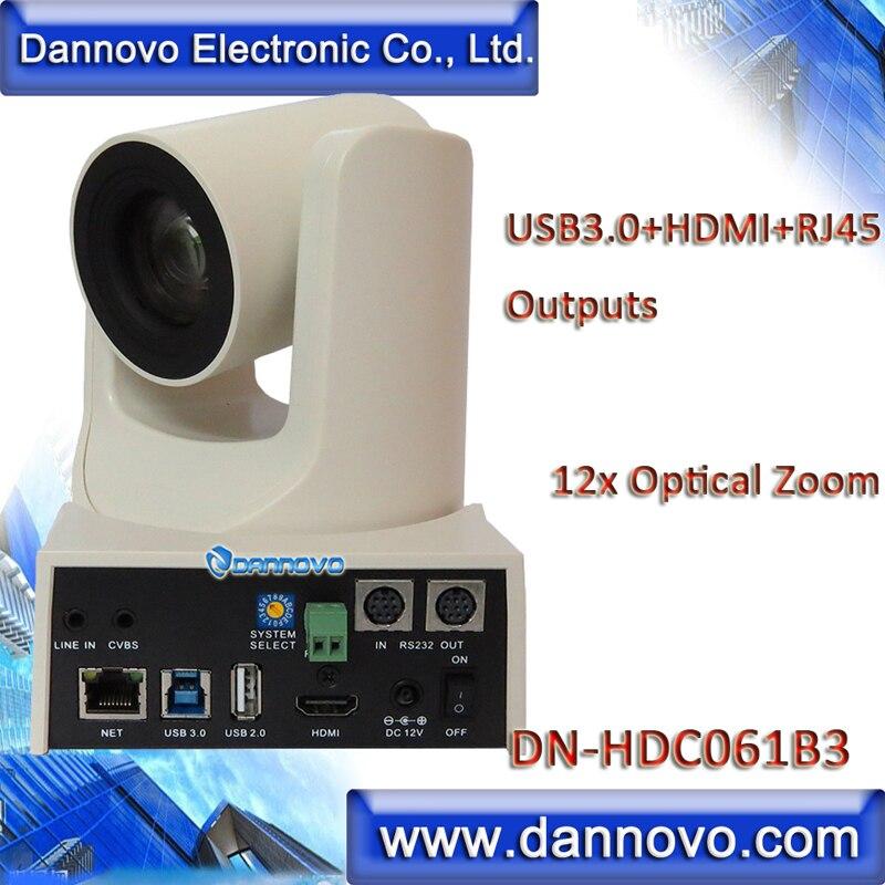 شحن مجاني: DANNOVO USB3.0 ، HDMI ، RJ45 IP UVC كاميرا متحركة ل بث الفيديو ، واسعة FOV 12x التكبير ، لوكس منخفضة (DN-HDC061B3)