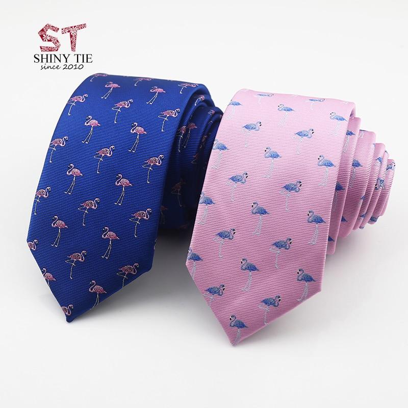 Corbata Formal de poliéster para hombre de 6CM con estampado de flamenco y elefante, corbata de Animal para hombre, corbata de negocios informal a la moda, accesorios para fiestas y bodas
