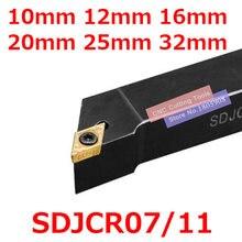 1 pièces SDJCR1010H07 SDJCR1212H07 SDJCR1212H11 SDJCR1616H07 SDJCR1616H11 SDJCR2020K11 SDJCR2525M11 SDJCR3232P11 SDJCL outils de Tournage