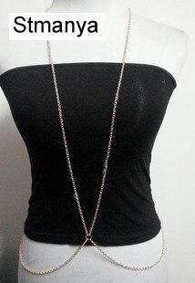 Nouvelle mode femmes simple corps bijoux longue chaîne collier fête plage femme cadeau Sexy bijoux bodychain en gros D1006