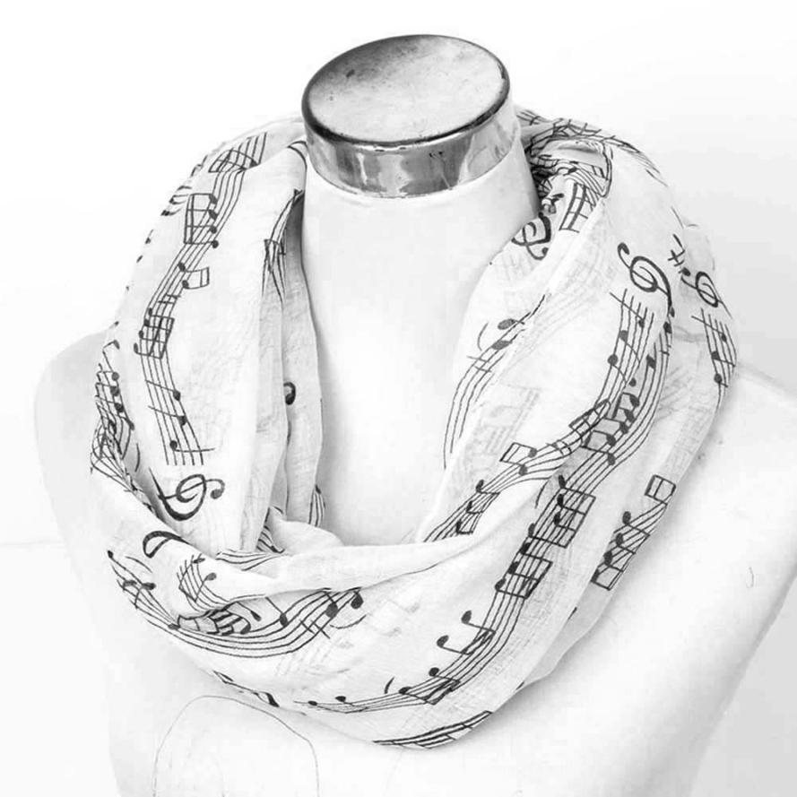 foulard femme fashion long scarf woemn musical print Large Long Voile Scarves Shawls Wraps Foulard Femme female handkerchief