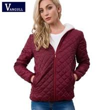 Vangull, nueva ropa de primavera y otoño para mujer, chaqueta básica de lana con capucha, abrigos femeninos de manga larga, ropa de abrigo informal con cremallera corta