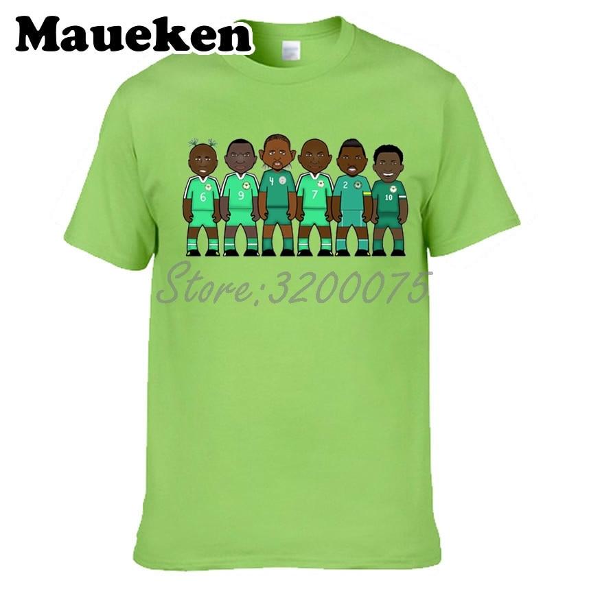 Los hombres Nigeria leyendas Augustine Jay Okocha Rashidi Yekini Nwankwo Kanu Finidi George Joseph Yobo Taribo camiseta W0523026