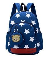 Stars Printing Nylon Children Backpacks Kids Kindergarten School Bags Backpacks Baby Boys Girls Nursery Toddler Cute Rucksack