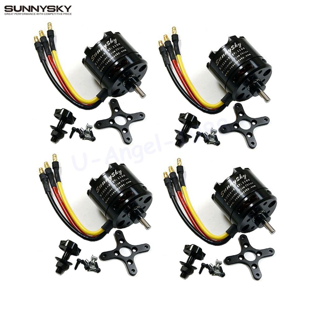 4 set/lot SunnySky X2814 serie 900KV 1000KV 1100KV 1250KV 1450KV Outrunner Motor sin escobillas para Rotor externo