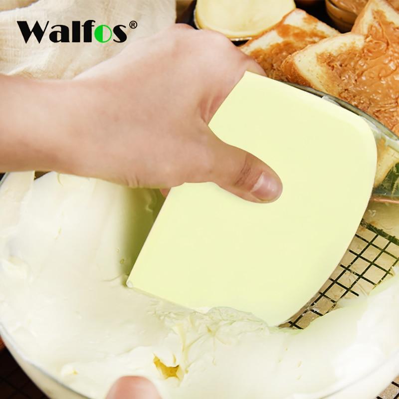 WALFOS скребок для теста, сливки, гладкий шпатель для торта, инструмент для выпечки теста, скребок для теста, кухонный нож для теста, резак, высокое качество