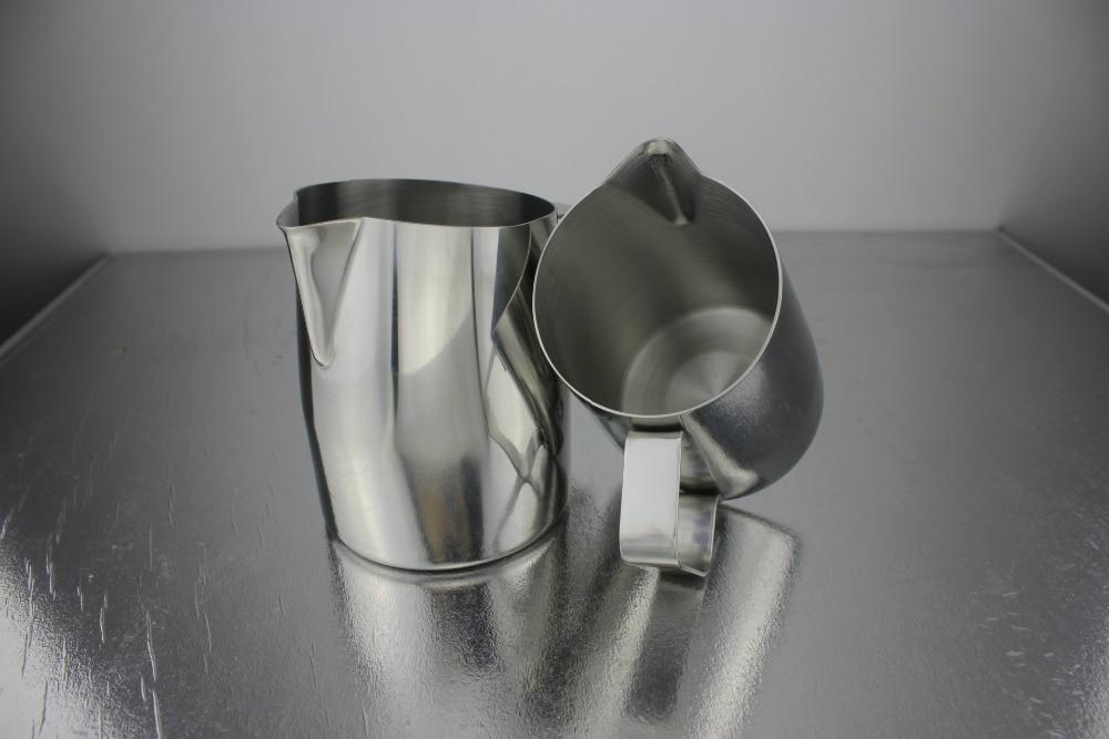 400cc novo design profissional europa jarro de leite/leite espumando jarro/jarro de leite/jarro de leite luxe casaco lattte arte jarro