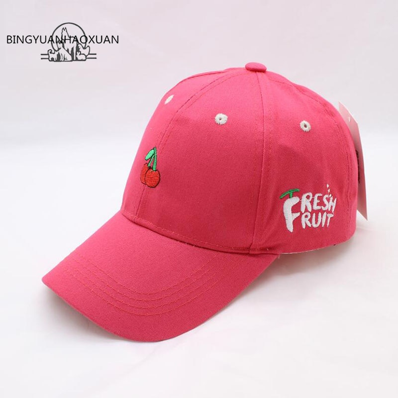 BINGYUANHAOXUAN 2018  New Arrival Fruit Baseball Cap Adjustable Embroidery Men And Women Dad Hat