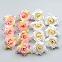 Roses artificielles blanches en soie  100 pieces  fausses fleurs  pour la maison  pour decoration de mariage  pour boite-cadeau  Scrapbooking