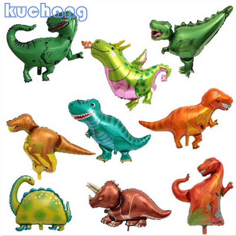 dinosaur animal series many chew toy 10pcs Mini Dinosaur Foil Balloon Boys Animal Balloons Toy Childrens Dinosaur Birthday Party Jurassic Decorations Ballons