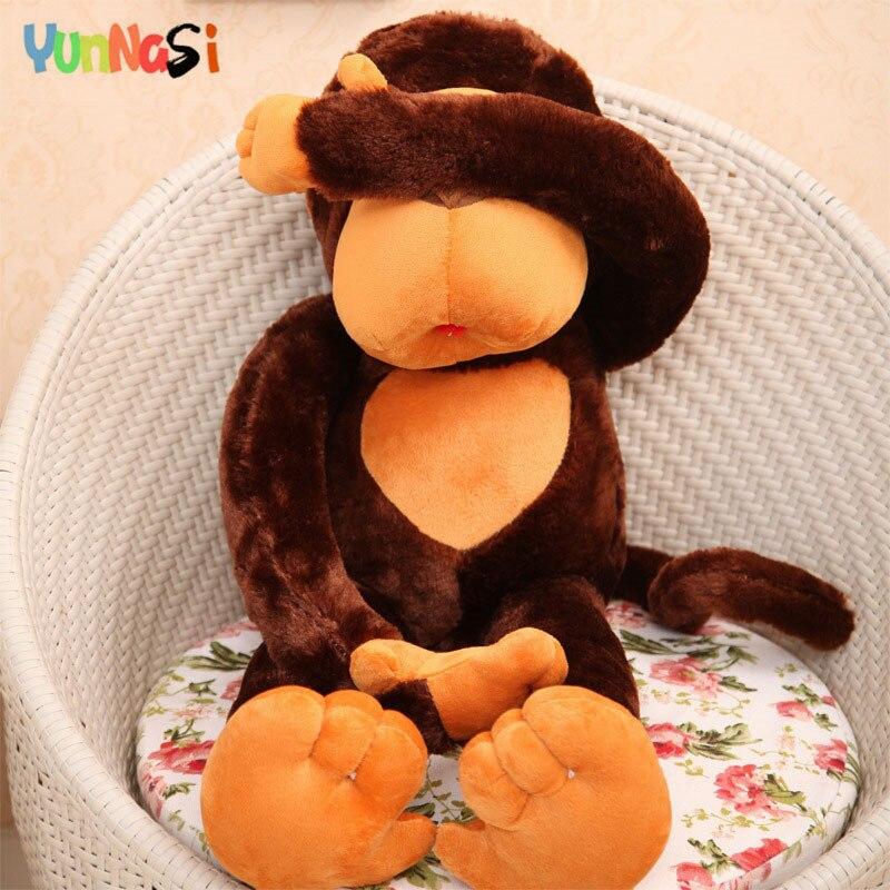 YunNasi singe géant jouets en peluche 110 cm énorme orang-outan oreiller cadeaux danniversaire filles enfants jouets doux gorille Animal en peluche Gibbon