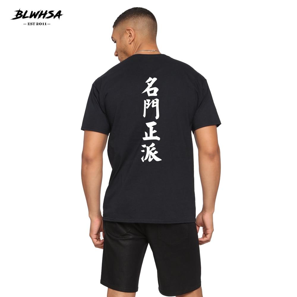 BLWHSA Novo Chinês Impresso T Shirt Engraçado T-shirt Dos Homens Ocasional 100% Algodão de Manga Curta Verão Moda Hip Hop Dos Homens Tops tees