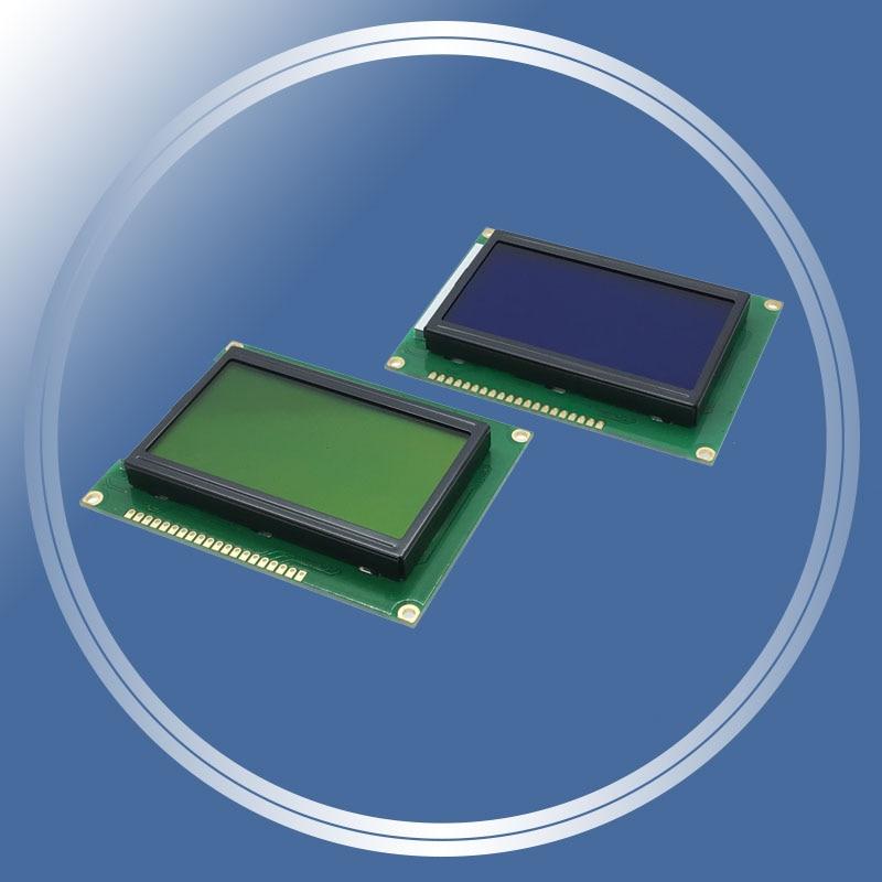 128*64 puntos módulo LCD 5V amarillo verde pantalla azul 12864 LCD con retroiluminación ST7920 puerto paralelo para arduino raspberry pi